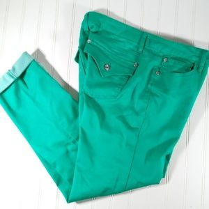 Celebrity Pink Women 13 Skinny Pants Colored Aqua